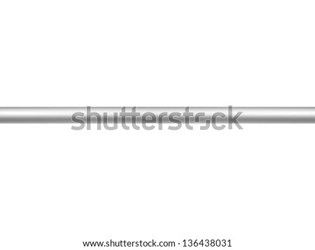Metal bars isolated against a white background - stock photo