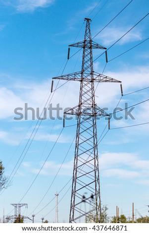 metal Bearing high voltage power line holds a wires