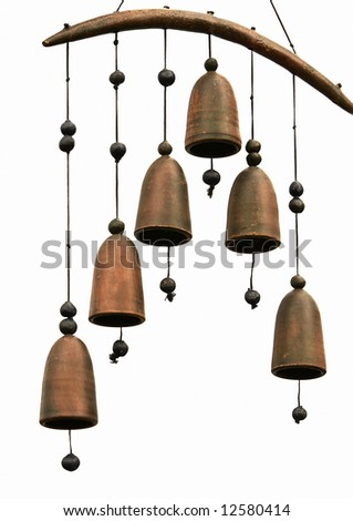metal bells isolated on white