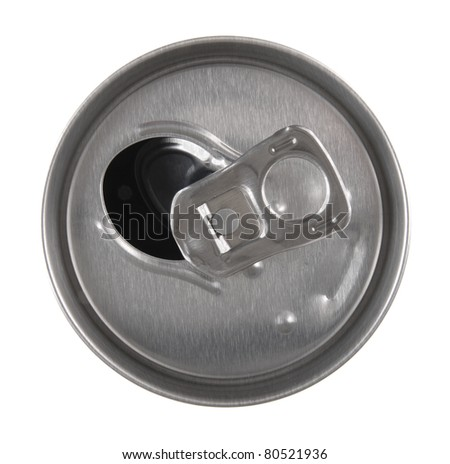 Metal  box from beer or soda isolated on white