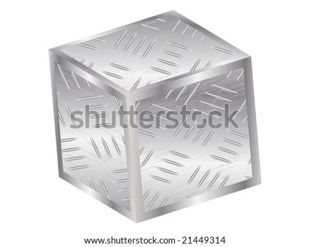Metal box image illustration - stock photo