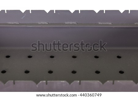 metal brazier for a bbq close up - stock photo