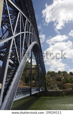 metal bridge - stock photo