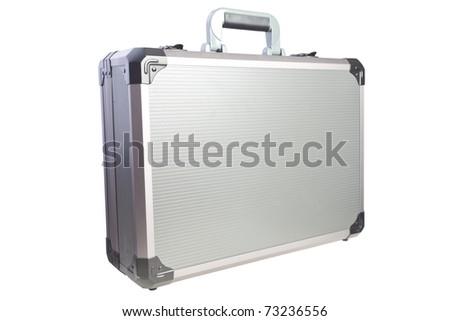 metal briefcase - stock photo