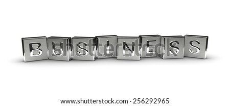 Metal Business Text - stock photo