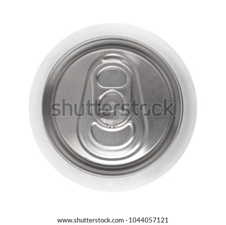 metal can isolated on white background
