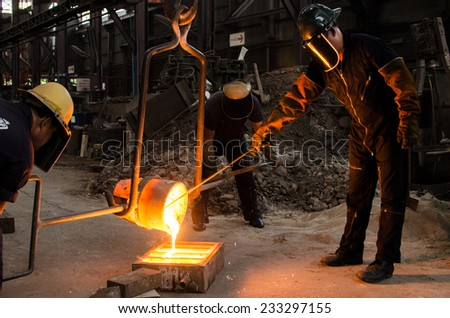 Metal Casting 1 - stock photo