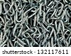 Metal chain background - stock photo