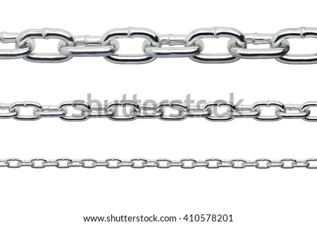 Metal chain isolated on white background - stock photo