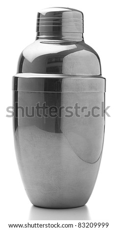 metal cocktail isolated on a white background - stock photo