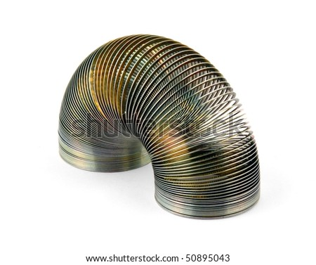 Metal coil isolated on white - stock photo