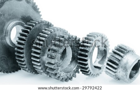 Metal components. - stock photo