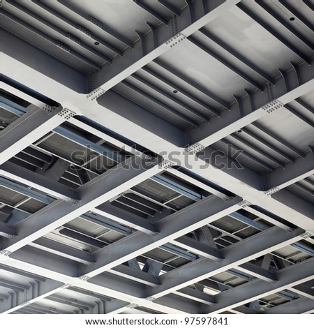 Metal construction abstract background - stock photo