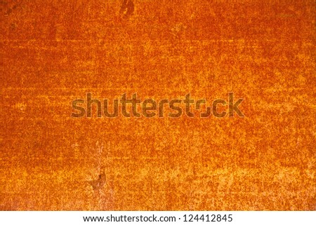 metal corroded texture. rust metall, orange color - stock photo