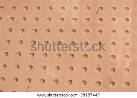 Metal cover - stock photo