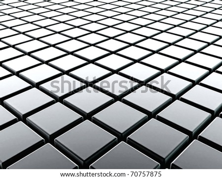 Metal cubes background