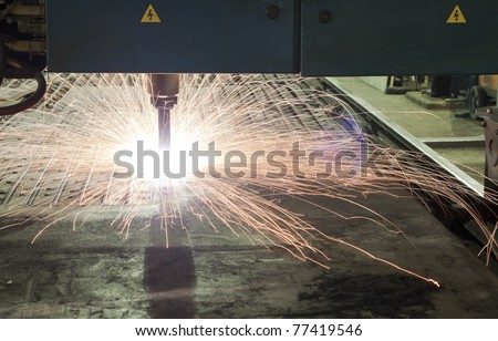 Metal cutter. Metal industrial machines and tools