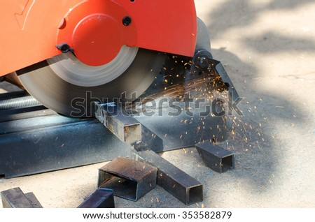 Metal cutting, welding - stock photo