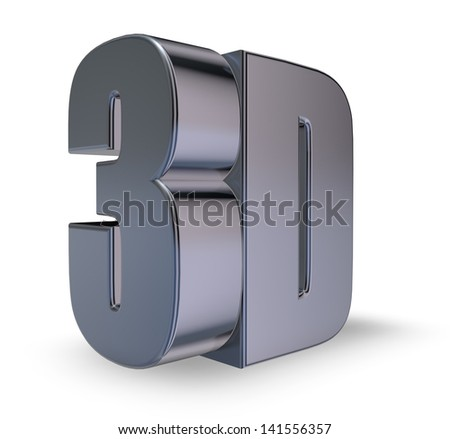 metal 3d tag on white background - 3d illustration