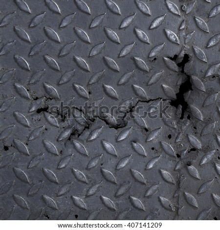 Metal Diamond Plate Texture Background