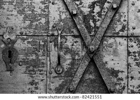 metal door black and white & Old Rusty Grilled Door Stock Photo 699971719 - Shutterstock Pezcame.Com