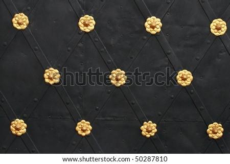 metal door decoration - stock photo