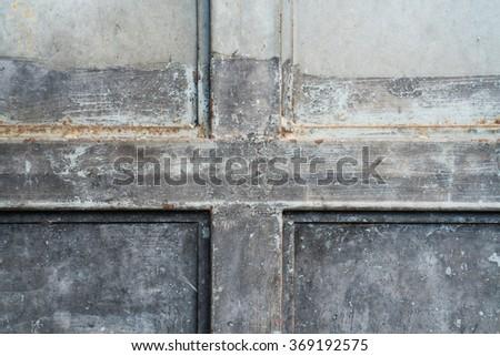 metal door rusty texture background - stock photo