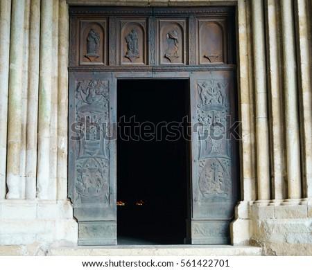 Open Church Door Clipart