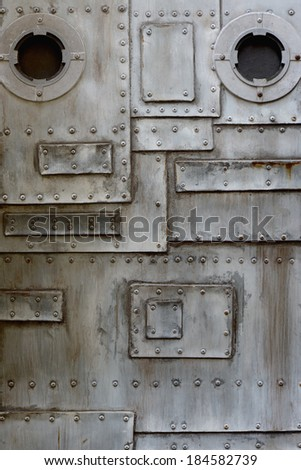 metal door with porthole
