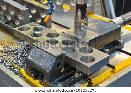 Metal drill - stock photo