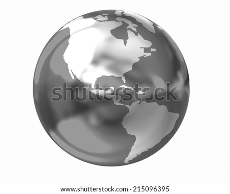 Metal earth on a white background - stock photo
