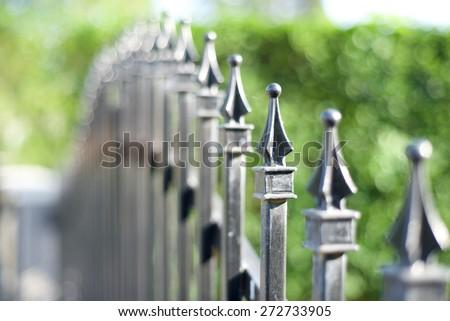 Metal fashion fence - stock photo