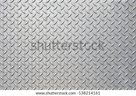 Metal Floor Plate Diamond Pattern Stock Photo Royalty