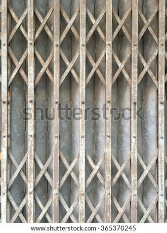 Metal folding door - stock photo