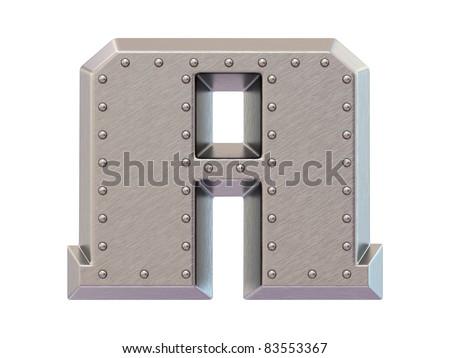 Metal font sign dollar - stock photo