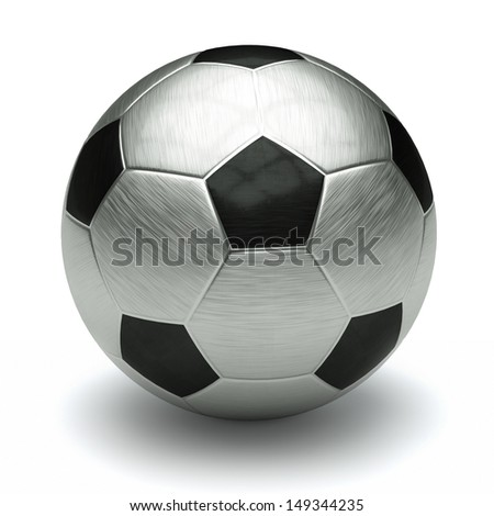 metal football  - stock photo