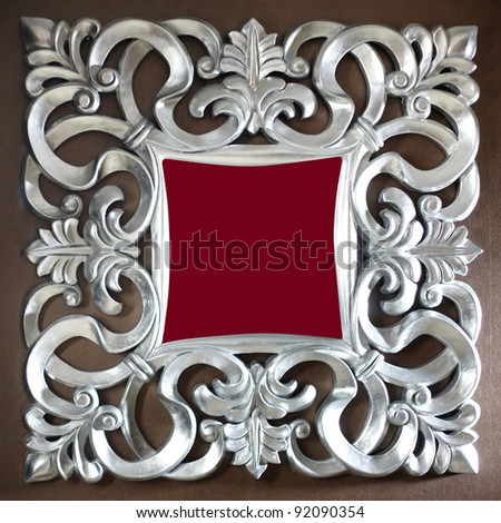 metal frame design - stock photo