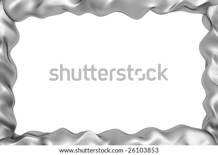 metal frame with clipping path