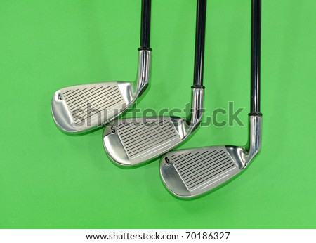 metal golf driver - stock photo