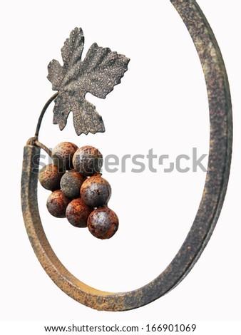 Metal grape texture on white background. - stock photo