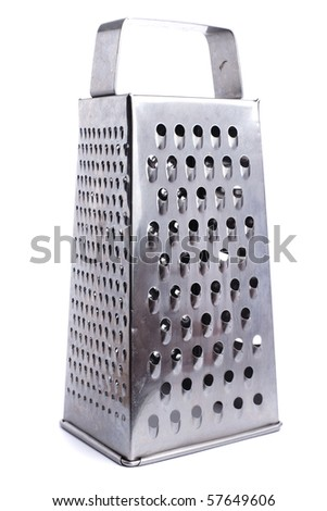 metal grater - stock photo