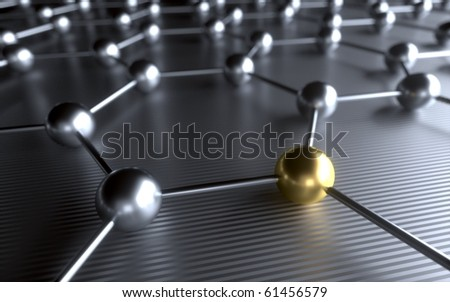 Metal grating interactions and connection - stock photo