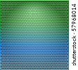 Metal Grid green-blue texture background illustration - stock photo