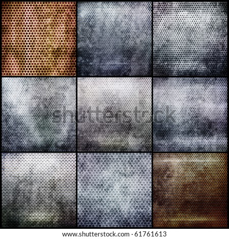 Metal grid set - stock photo