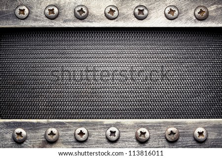 Metal grid texture, background - stock photo