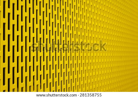 Metal grids in a depth of focus - stock photo