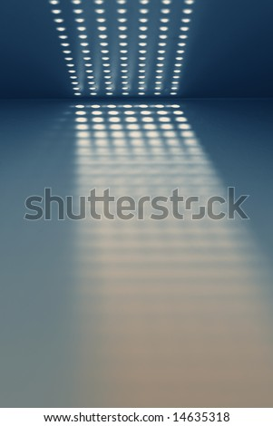 Metal Grille Holes in Grill and Shadow - stock photo