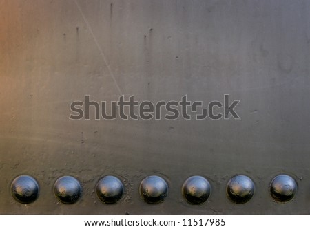 Metal Grunge with Rivets - stock photo