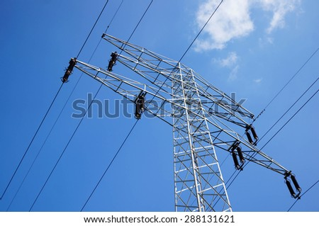 Metal high energy transmission tower
