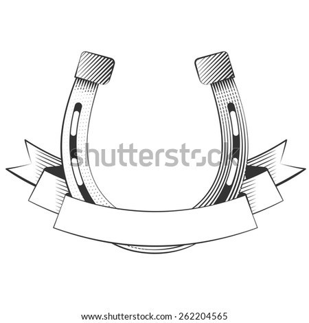 Metal horseshoe  - stock photo